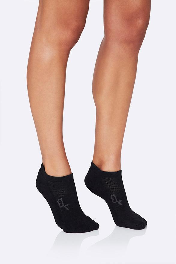 Size 3-9 Boody Body EcoWear Womens Sneaker Sock Black