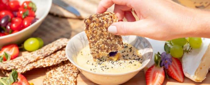 Thyme & Garlic Seed Crackers