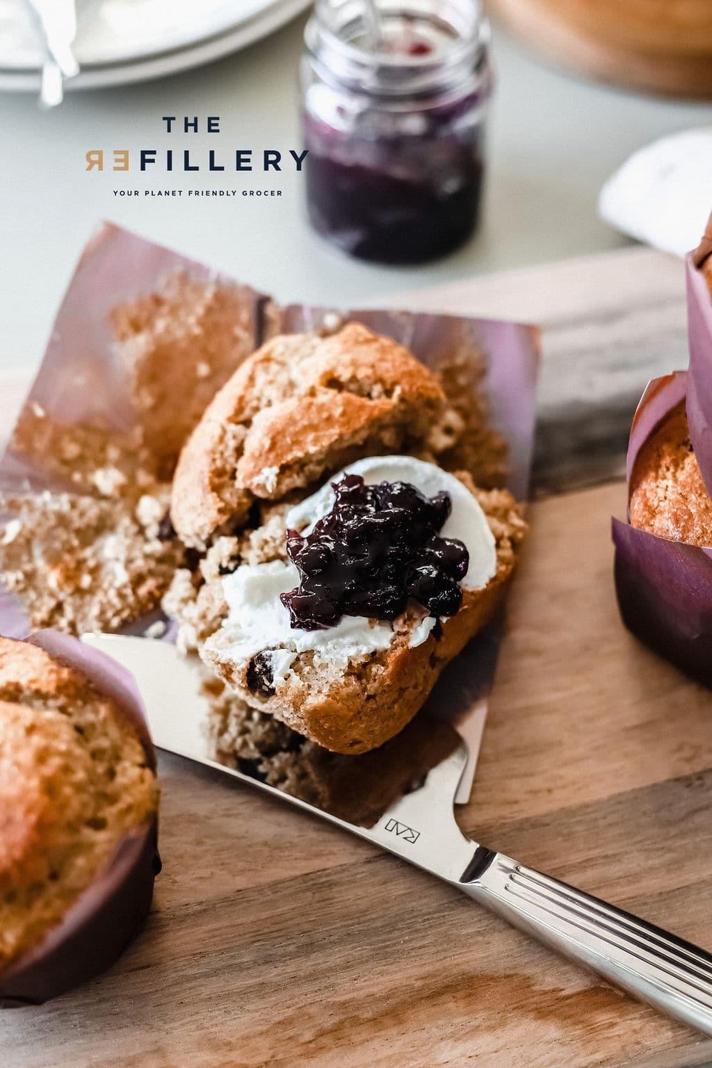 Bran and raisin Muffin