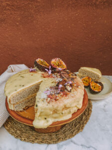 Coconut and Granadilla cake