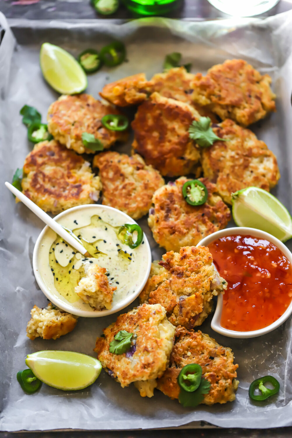 Millet & Corn fritters
