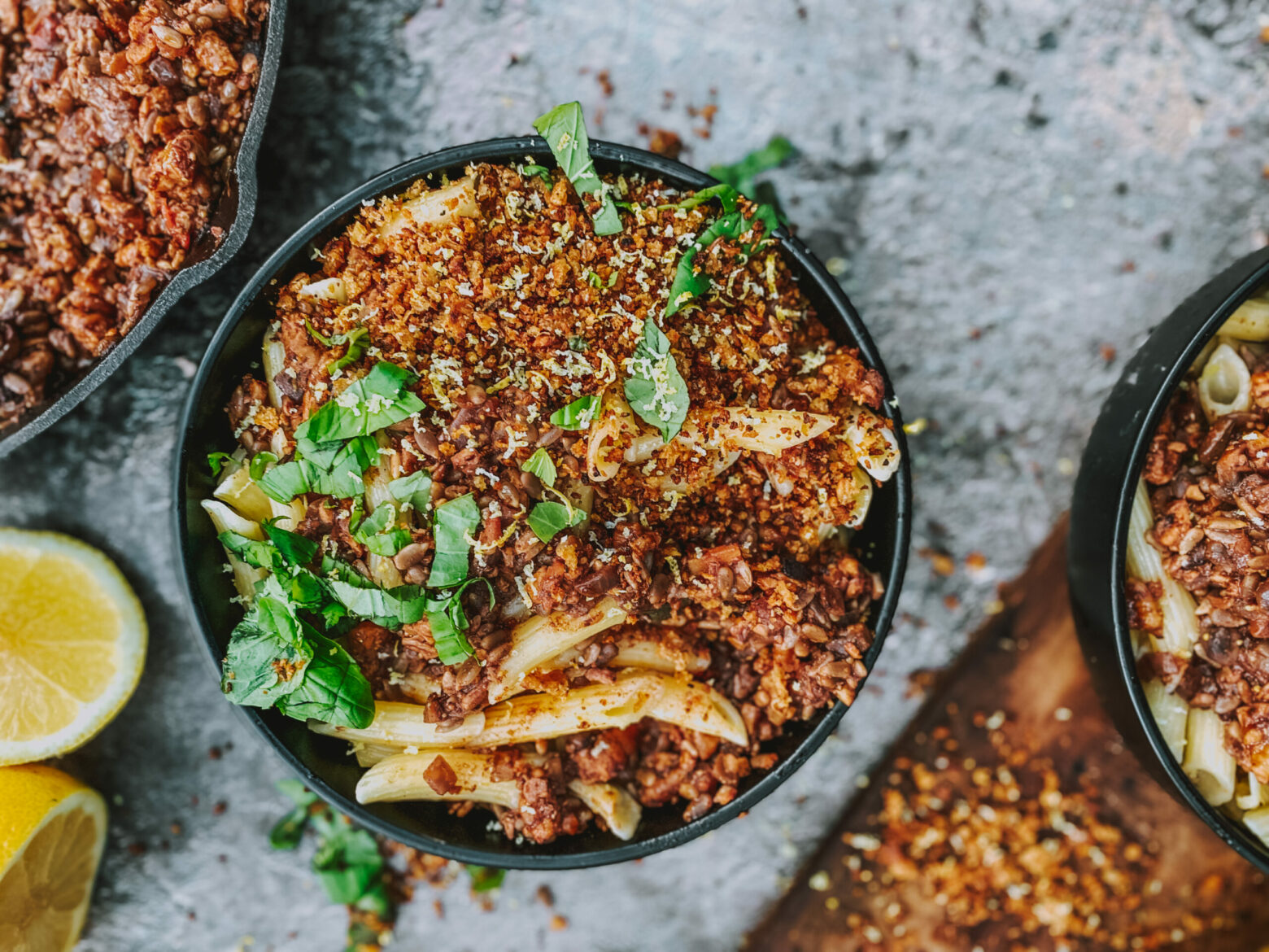 Pecan and Penne Bolognese